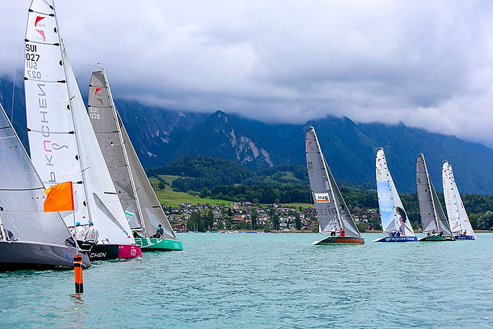 Viel Regen – wenig Wind am Act 4 in Thun